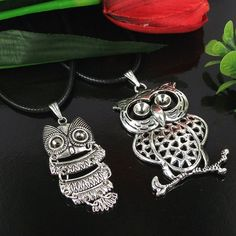 2pcs Mixed Owl Design Charm Alloy metal Lead free  by jewelrygo, $1.99