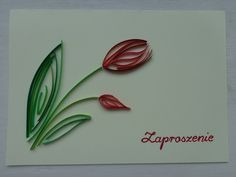 quilled tulip card