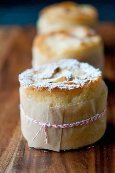 French Apple Cake - this looks amazing. I wonder if you could bake them in cans?