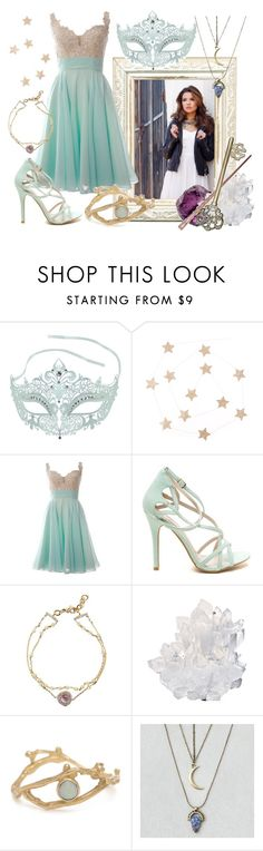 """Loni - Masquerade"" by creatingpulsars ❤ liked on Polyvore featuring Nadri, McCoy Design and American Eagle Outfitters"