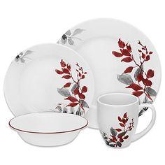 Corelle® Boutique Kyoto Leaves 16-Piece Dinnerware Set