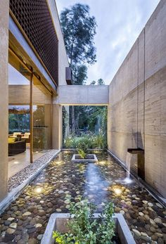 House of JS-DM / Diez + Muller Arquitectos Galerie - 7 - Gart .- Casa de JS-DM / Diez + Muller Arquitectos Galerie – 7 – Gartengestatung 2019 House of JS-DM / Diez + Muller Arquitectos Galerie – # architects - Future House, Casa Patio, Design Exterior, Design Jardin, Water Features, Interior Architecture, Aquarium Architecture, Computer Architecture, Tropical Architecture