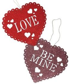 Get romantic with our unique Valentine's day decorations. Unique figurines, ornaments and garland will fill your heart with love. Shop Valentine's Day decor now! Diy Valentine's Ornaments, Christmas Ornaments, My Funny Valentine, Be My Valentine, Bethany Lowe, Valentines Day Decorations, Sweet Hearts, Garland, Glitter
