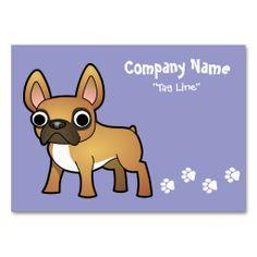 Cartoon French Bulldog (mask) Business Cards
