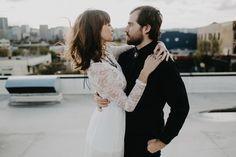 rooftop wedding couple pic
