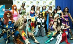 Superhero Disney Princesses Group Cosplay This makes me happy!