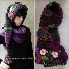 Elf Hat/Pixie Hat /long tail hat /Fairytales Hat with or
