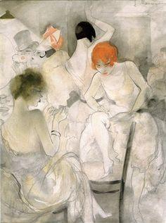 Jeanne Mammen - Avant le spectacle , 1928}