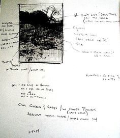 Tim Allen Lawson's field sketches notes