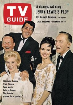 TV Guide, December 14, 1963 - Rosemary Clooney, Frank Sinatra, Dean Martin, Kathryn Crosby and Bing Crosby