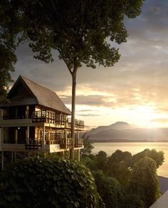 Luxury villas in the treetops and a view of the ocean. Take me back to Gaya Island Resort!