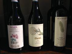 Al #wine #bar nel nostro #scaffale delle meraviglie, potete trovare tre #Nebbiolo di altissima qualità.