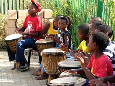 Cultural activities:  Drumming is one of many extra curicular classes available after school at our community centre in Alexandra, Gauteng