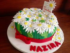 Bolo ramalhete de margaridas  Cake dayse flower