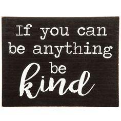 Be Kind Wood Wall Decor