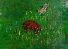 Turbo and the wild boar II #art #painting #kids #books #dogs #education #paintings #paint #penandink #watercolors #oils #tv #education #cartoon #animation #inspiration #Yorkshire #terriers #space #meteorites #astronomy #turbo #turboshouse #zaquelinesouras #zsouras Wild Boar, Yorkshire Terriers, Turbo S, Astronomy, Watercolors, Animation, Paintings, Cartoon, Education