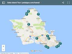 Things to do in Oahu: Oahu circle island tour map, Hawaii