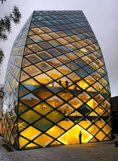 Prada building, Herzog & de Meuron Architekten, Tokyo. (aka The Pineapple). Beautiful facade. Love the complexity of their work. #architecture #modern #modernarchitecture #facade Jewel box!