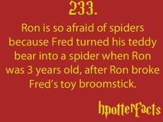 So Fred was five ?! That's complex magic for a five year old...