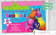 Backyardigans Digital Printable Invitation by SweetStudioDesign