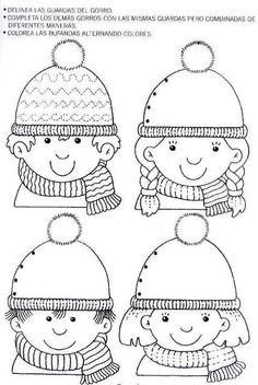 Crafts,Actvities and Worksheets for Preschool,Toddler and Kindergarten.Lots of worksheets and coloring pages. Winter Crafts For Kids, Winter Kids, Winter Art, Winter Theme, Kids Crafts, Preschool Writing, Preschool Activities, Winter Activities, Drawing For Kids