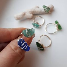 Wire Jewelry Rings, Wire Jewelry Designs, Handmade Wire Jewelry, Cute Jewelry, Crystal Jewelry, Diy Jewelry, Beaded Jewelry, Jewelry Accessories, Jewelry Making