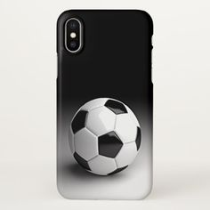 Modern Black White Soccer Sport Photography iPhone X Case - cool gift idea unique present special diy