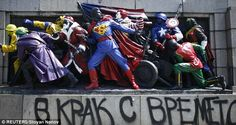 street art super hero bulgarie 1