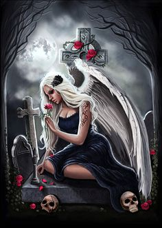 Angel of sorrow gothic dark fantasy artprint by AnnaMarine on Etsy Aztecas Art, Bd Art, Gothic Angel, Gothic Fairy, Gothic Fantasy Art, Fantasy Kunst, Dark Gothic Art, Elves Fantasy, Gothic Artwork