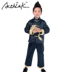 Chinese Coat: SALE ActhInK New Baby Boys Embroidery Dragon Chine... Boys Formal Suits, Boys Suits, Chinese Traditional Costume, Cheap Suits, New Baby Boys, Outfit Sets, New Baby Products, Costumes, Long Sleeve