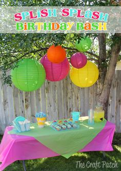 Splish Splash Birthday Bash. Fun party ideas
