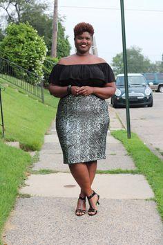 curvy women, curvy, curvy girls, plus size fashion, sequin skirt, michelle obama inspired, plus size bloggers, plus size blogs, curvy blogs,...