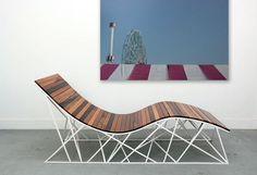Coney Island Chair by Uhuru Design. Made from reclaimed wood from the Coney Island boardwalk. Design reminiscent of its last remaining roller coaster, the Cyclone. Eco Furniture, Sustainable Furniture, Furniture Design, Reclaimed Furniture, Furniture Chairs, Living Furniture, Sustainable Design, Sustainable Living, Outdoor Furniture