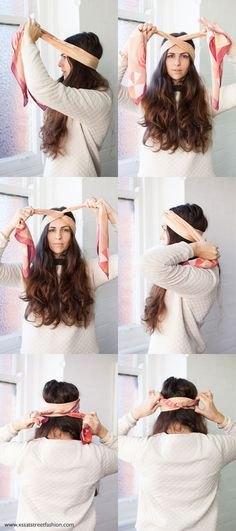 how to wear a scarf with benah - and how amazing is her hair!