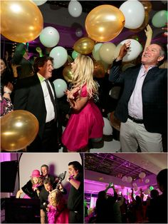 Balloon drop! Fuchsia-Infused 50th Birthday Party at The Joule | photos: Jason Kindig Photography | event planning: DFW Events, www.dfwevents.com