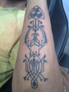 Followhand outer forearm action. Handpoked
