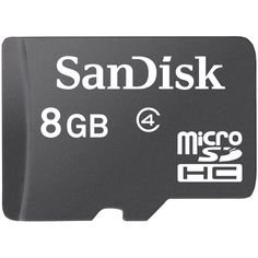 Sandisk 8GB Class 4 MicroSDHC Memory Card (SDSDQM-008G-B35-$6