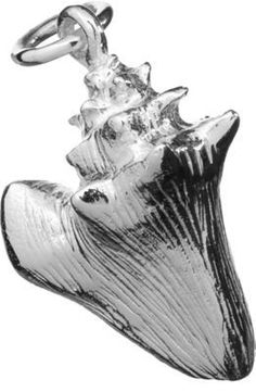 Sterling Silver Conch Shell Pendant