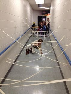 Mission Impossible theme??? Cafeteria or hallways??