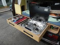 pull out gas cooker camping kitchen - Google zoeken
