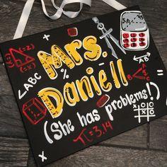Math Teacher Sign - Hand Painted Teacher Door Sign Hanger -Math Teacher Door…