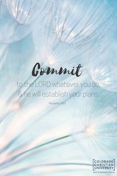 Commit to the Lord whatever you do & He will establish your plans. Faith Quotes, Bible Quotes, Bible Verse Wallpaper, I Can Do Anything, In Christ Alone, Positive Living, House Rules, Favorite Bible Verses, God First