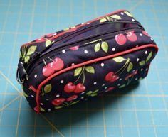 Piped Zipper Pouch -- sewing tutorial by Roonie Ranching © 2016