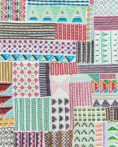 folk geometric patchwork