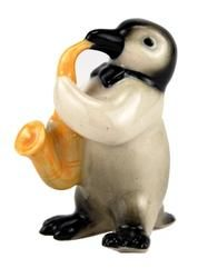 Penguin Chick Sax Player Northern Rose