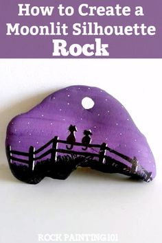 Learn how to paint this fun fence rock. This quick tutorial will give you step by step instructions and a video so that you can easily make this fun stone painting idea. #silhouette #fence #rockpaintingidea #howtopaintrocks #tutorial #rockpainting101