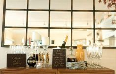DIY champagne bar (photo by steve steinhardt, styled by beth helmstetter via style me pretty)