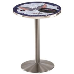 Holland Bar Stool Pub Table Tabletop Size: H x W x D, NHL Team: Florida Panthers, Top color: Stainless steel Holland Bar Stool, Florida Panthers, Carolina Hurricanes, Buffalo Sabres, Minnesota Wild, New York Islanders, New Jersey Devils, Tampa Bay Lightning, Anaheim Ducks
