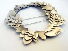 Would love this as a necklace. Brooch | Kayleigh Biggs.  Sterling silver and 9kt gold highlights.