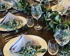 Eucalyptus & Boxwood Garland Wedding Centerpiece Table Runner   Etsy Eucalyptus Garland, Seeded Eucalyptus, Eucalyptus Leaves, Garland Wedding, Wedding Flowers, Boxwood Garland, Garlands, Artificial Garland, Garland Nursery
